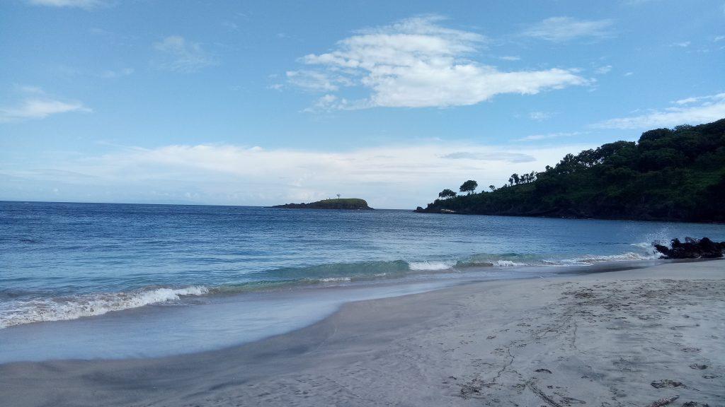 Virgin beach Karangasem Bali.